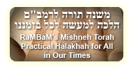 Rambam's Mishneh Torah: Practical Halakhah for All in Our Times