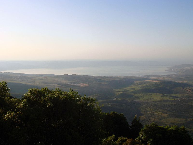 "See of Galilee: Eternal heritage of the tribe of Naftali (photo from Wikipedia article ""Sea of Galilee"")"
